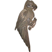 Signed Sterling Silver Taxco Parrot Pin