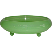 Fenton Jade Green Footed Dish 1930's #100