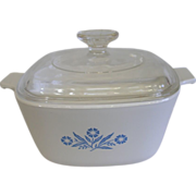 Vintage Corning Ware Cornflower 1 3/4 Qt Covered Casserole