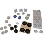 Collection of Vintage Buttons-Glass MOP Bakelite Lucite Rhinestones