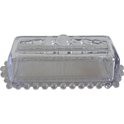 Imperial Glass Depression Candlewick Covered Butter Dish