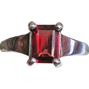 Kabana Sterling Silver Garnet Ring-Size 8