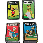 Disney Characters 1946 Mini Card Games Russell Mfg