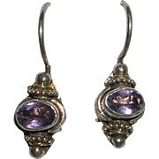 Petite Sterling Silver Amethyst Earrings