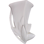1940's Nelson McCoy Matte White Lily Bud Wall Pocket