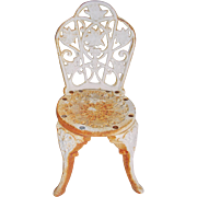 Ornate Cast Iron Mini Garden Chair