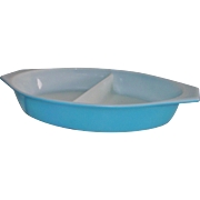 Pyrex Divided Baking Serving Dish Primary Blue