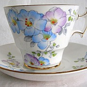 Vintage Phoenix Bone China Teacup & Saucer, Thomas Forester & Sons, Ltd., Hand Painted