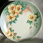 Beautiful Vintage Hand Painted Plate-Roses-1952