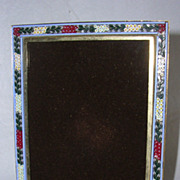 Vintage Italian Micro Mosaic Picture Frame