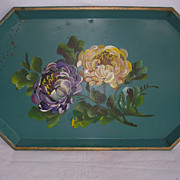 Vintage Nashco Shabby Chic Hand Painted Tray