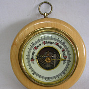 Vintage West German Wall Barometer in Hardwood Case