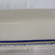 Vintage Pfaltzgraff Blue and White Covered Butter Dish