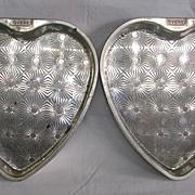 SALE Vintage Ekco Ovenex Starburst Heart Shaped Cake Pans