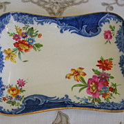SALE Royal Winton Grimwades Floral and Flow Blue Shallow Dish