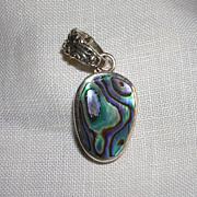 SALE Vibrant Paua Abalone Shell Pendant