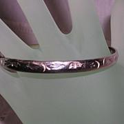 SALE Vintage Mexican Silver Bangle Bracelet