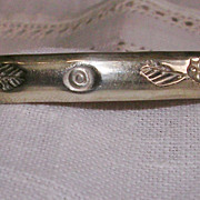 SALE Vintage Handmade Sterling Silver Bangle Mexico