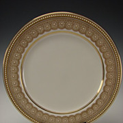 Antique Royal Worcester China Porcelain Jeweled Elegant Cabinet Plate W8652