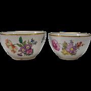 SALE Antique Royal Copenhagen Pair of Stacking Danish Porcelain Frijsenborg China Bowls