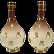 SALE Antique Minton China Christopher Dresser Aesthetic English Porcelain Pair of Vases