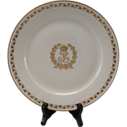 Antique Sevres King Louis Philippe Service Plate Gilt Monogram White Gold