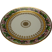 SALE Fantastic Large SEVRES Porcelain Hand Painted Floral China Charger Saponaire Officinale .