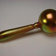 Antique Steuben Carder Aurene Glass Whimsey Sock Darner c1915