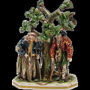 Antique German Volkstedt Thuringian Porcelain Figural Grouping