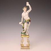 Fabulous Antique Meissen Bacchus German Porcelain Figurine  c1740
