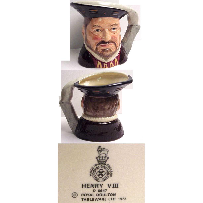 Royal Doulton Character Jug Henry V III  Small Size