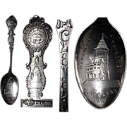 Fine 1900's  Garfield Monument Sterling Souvenir Spoon
