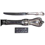 """Towle Old Colonial Sterling Silver Hollow Handle 8 3/4"""" Knife"""