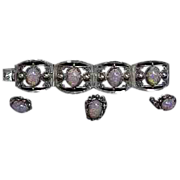 Mexican Silver & Faux Opals 4 piece Set