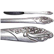Community Plate Evening Star Pattern Viande Knife