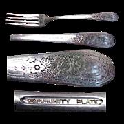 """Community Plate Paul Revere Pattern 7 & 5/8"""" Fork"""