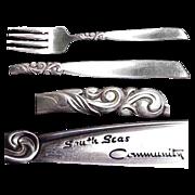 Community Plate South Seas Pattern Salad/Dessert Fork