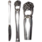 """(2) 1941 Eternally Yours 8 & 1/2"""" Grill  Knife by 1847 Roger Bros"""