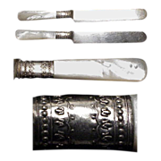 "C.1890's (2) a Pair of Mother of Pearl Handled 8"" Knives"