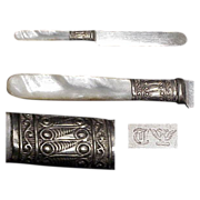 "1890's Mother Of Pearl  Handled 7"" Youth/Tea Knife"