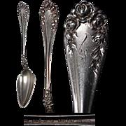 Wallace Sterling Silver Rose Pattern Fruit Spoon
