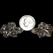Sterling Ribbon Bow & Flower Earrings