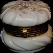C F Monroe Company Wavecrest Opal-ware Glass Jewelry Box