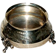 Antique ( 1881 ) Sterling Footed Salt
