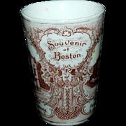 1890's Souvenir Porcelain Tumbler of Boston, Massachusetts Views