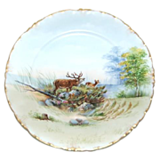 "9 7/8"" Transfer w/ Hand Painting Rosenthal Woods Scenic Plate"
