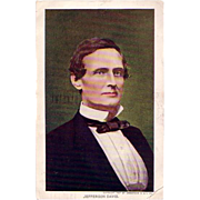 Jefferson Davis Postcard