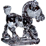 Heisey Solid Clear Glass Animal Sparkie the Horse