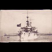 "RPPC Postcard with Photographic Image of ""USS New York"""