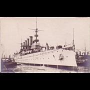 "RPPC Postcard with Photographic Image of ""USS Pennsylvania"""